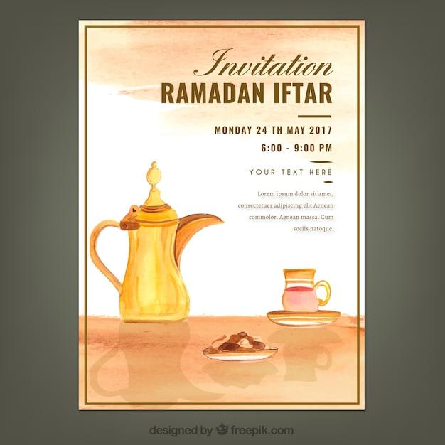 Watercolor iftar ramadan invitation vector free download watercolor iftar ramadan invitation free vector stopboris Image collections