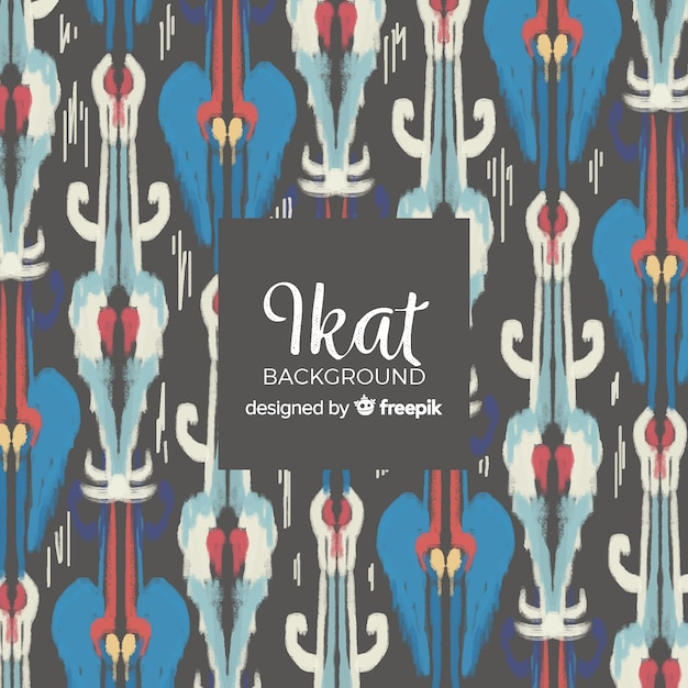 Watercolor ikat background Free Vector