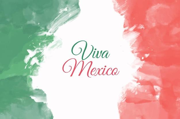 Watercolor independencia de méxico Free Vector