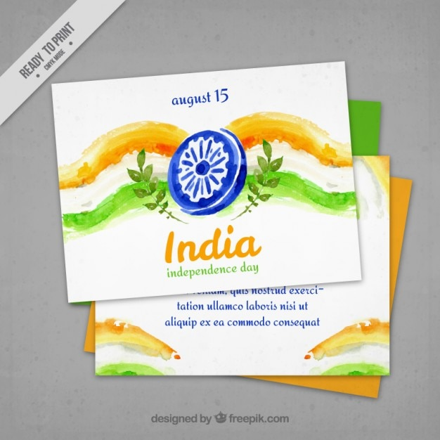 Watercolor india cards
