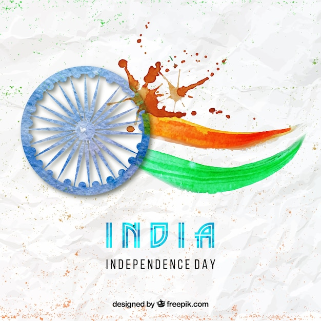 Watercolor India independence day backdrop