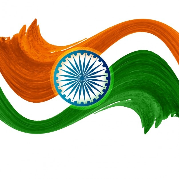 Watercolor Indian flag design
