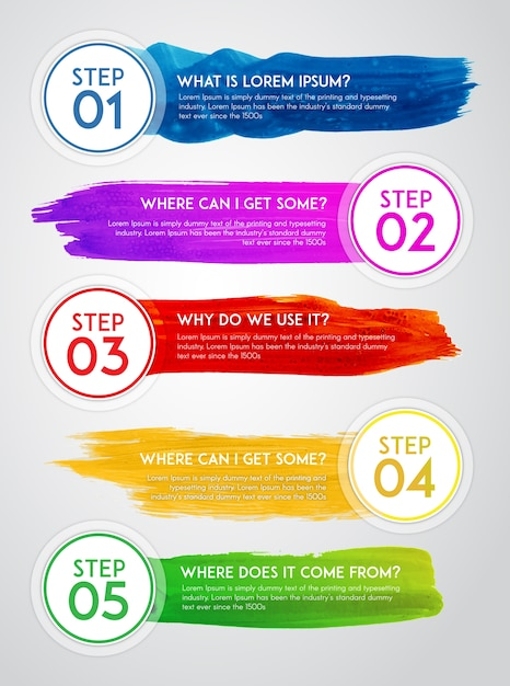 Watercolor infographic design Free Vector