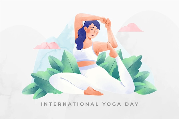 Watercolor international day Free Vector