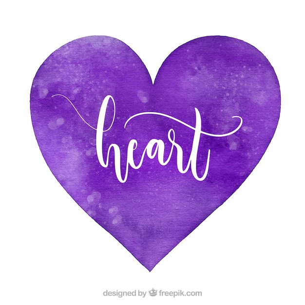 Watercolor isolated heart background
