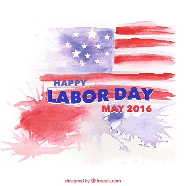 Watercolor labor day background