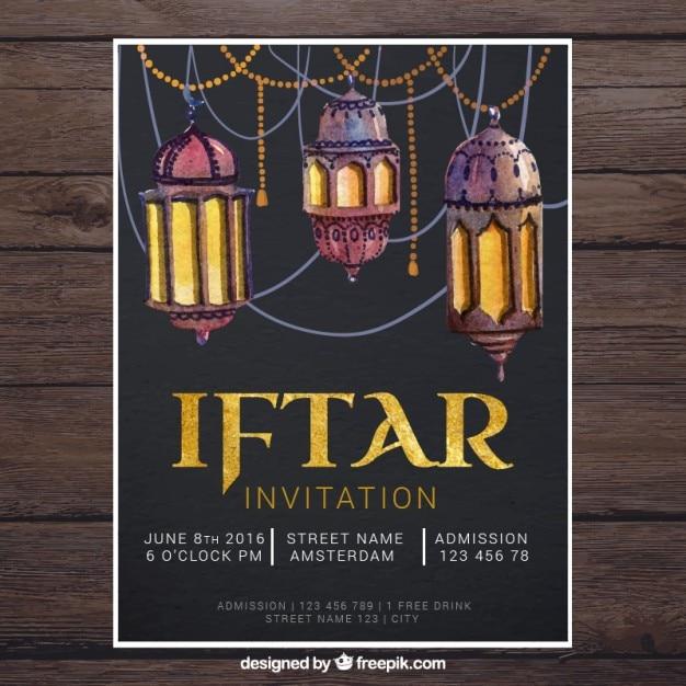 Iftar Invitation Vector Image collections - Invitation