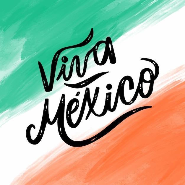Watercolor mexic independence day concept Free Vector