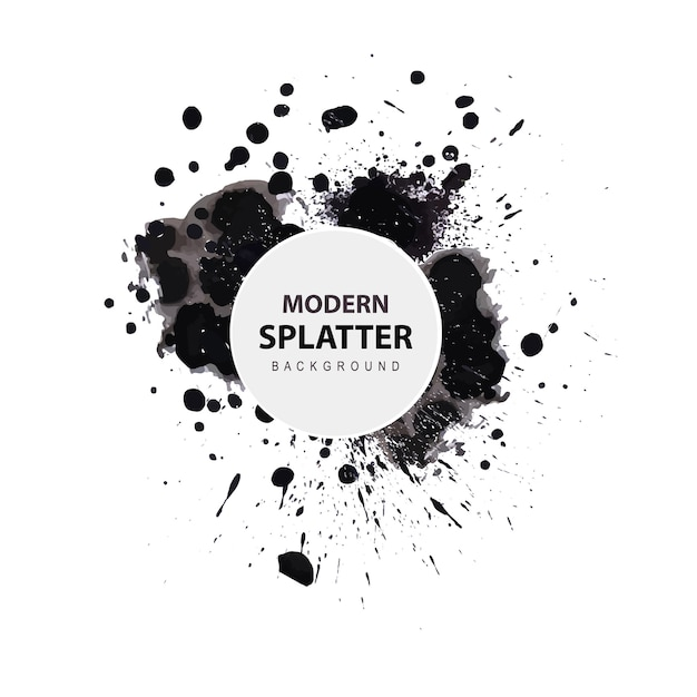 Acquerello moderno splatter background Vettore gratuito