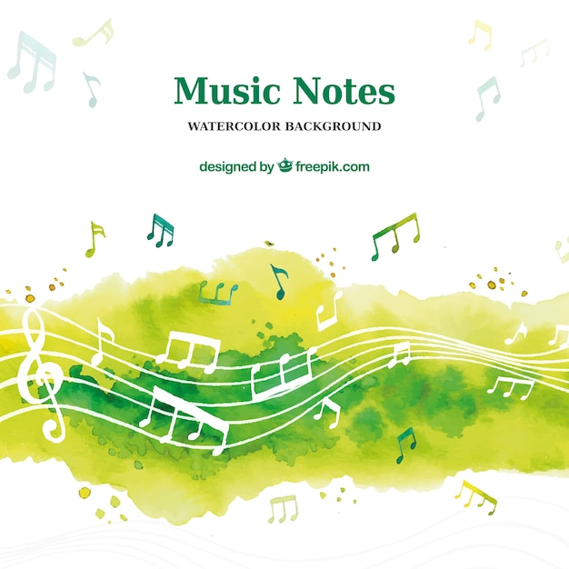 Watercolor music background Free Vector