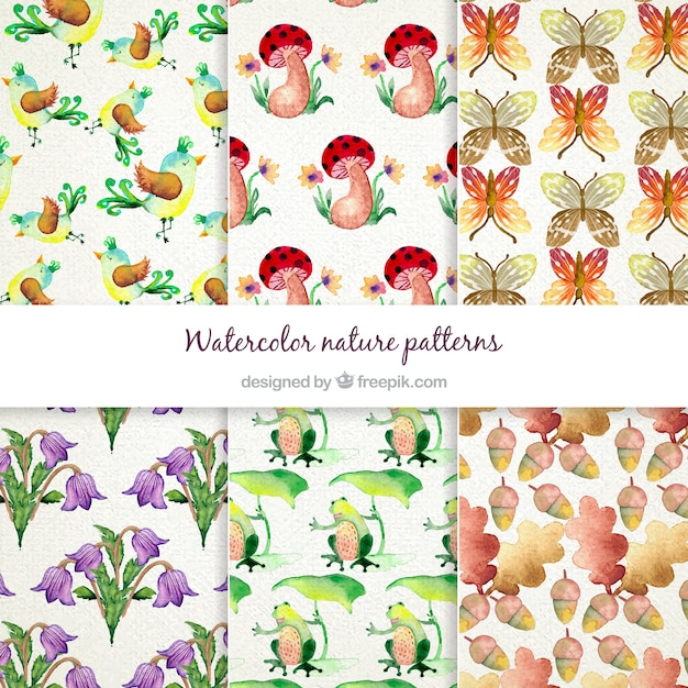 Watercolor Nature Patterns