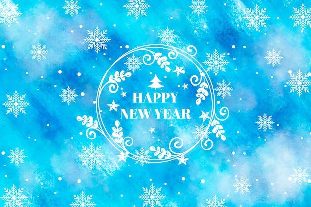 Акварель новый год 2020 Бесплатные векторы