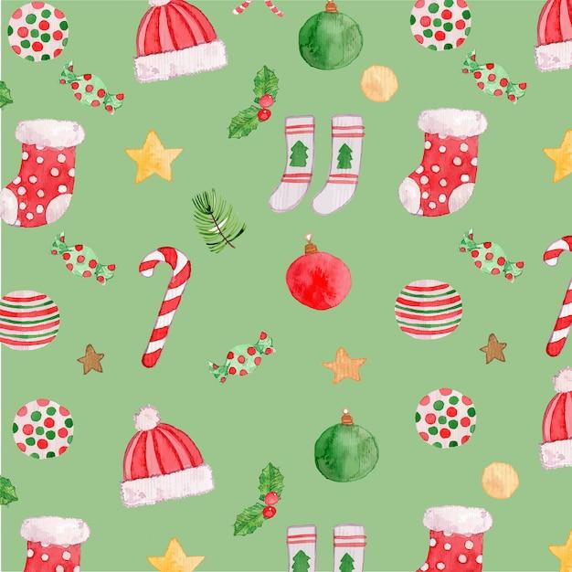 Watercolor ornaments seamless pattern Premium Vector