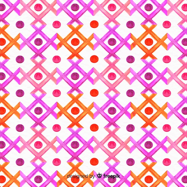 Watercolor paint mosaic background Free Vector