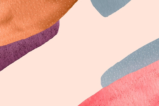 Watercolor painted abstract wallpaper Free Vector