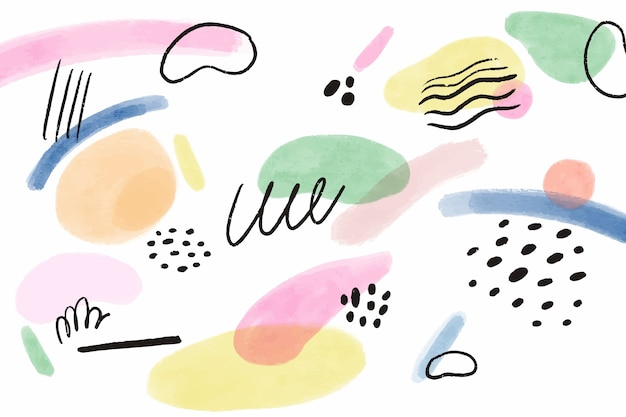 Watercolor painted background concept Free Vector