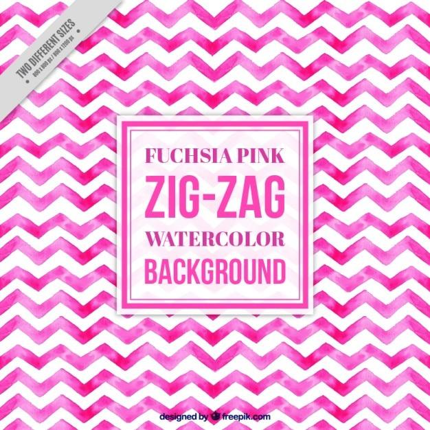 Watercolor pink zig-zag pattern Vector | Free Download