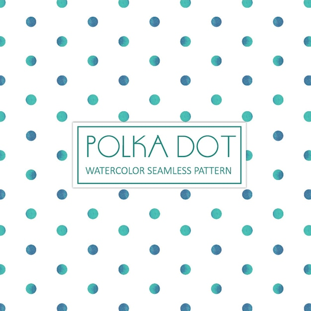 Watercolor polka dot background Free Vector