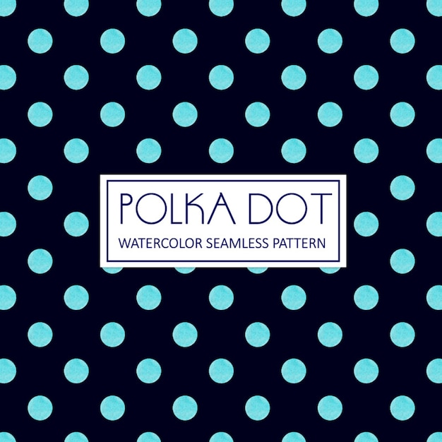 Watercolor polka dot background vector | free download.