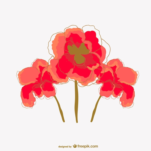 Watercolor poppy flower vector free download watercolor poppy flower free vector mightylinksfo