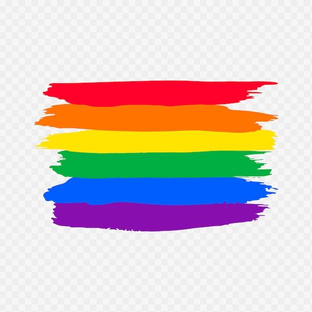 Watercolor pride day flag Free Vector