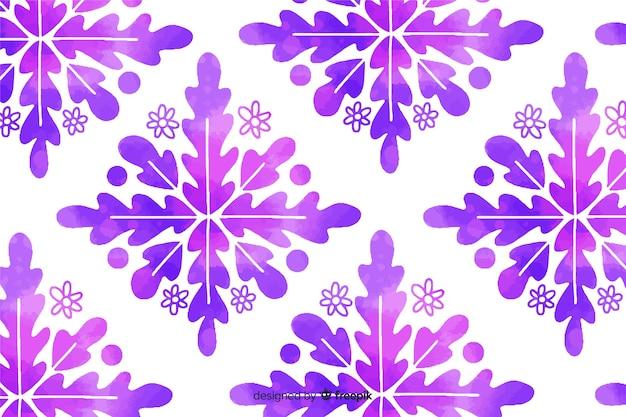 Акварель фиолетовый декоративный цветочный фон Бесплатные векторы