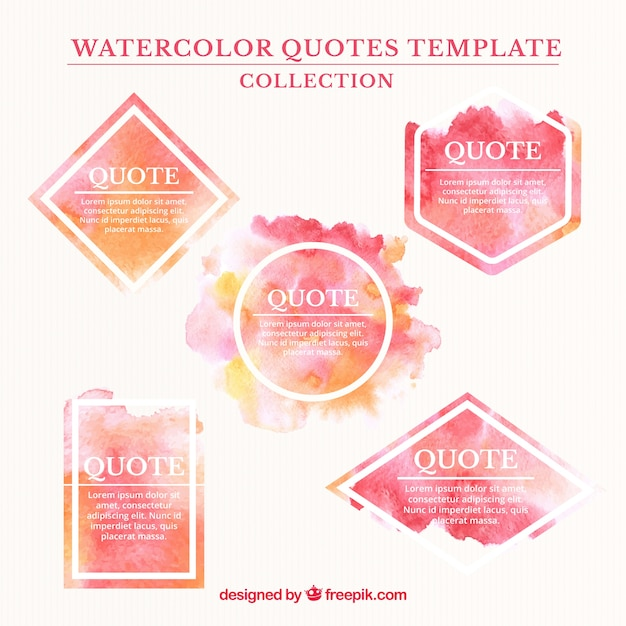 painting quotes templates - watercolor quote templates vector free download