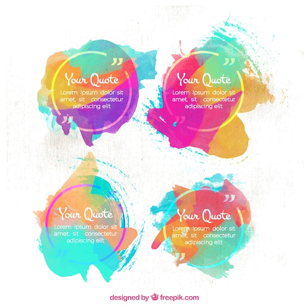 watercolor quote templates vector