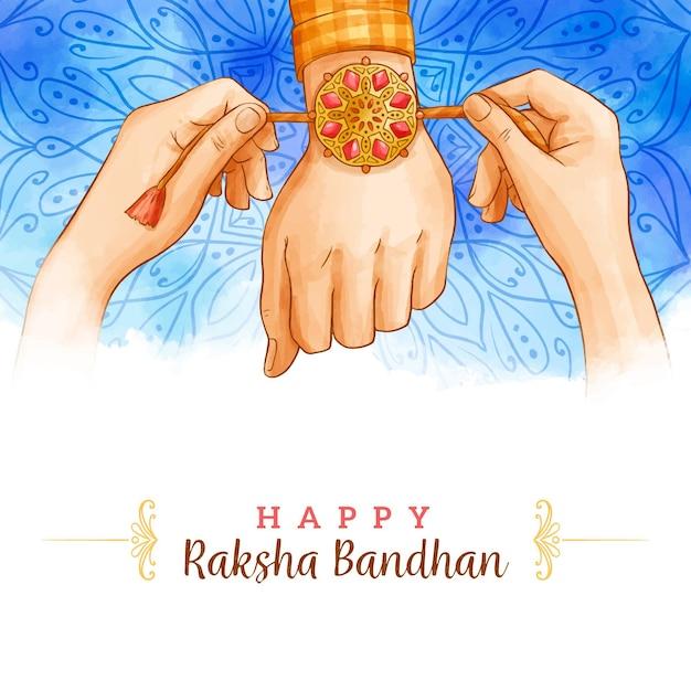 Watercolor raksha bandhan concept Free Vector