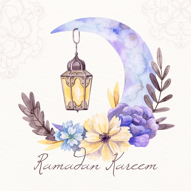 Watercolor ramadan concept Free Vector
