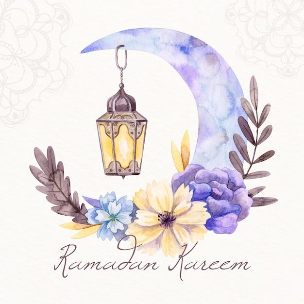 Watercolor ramadan concept Free Vector