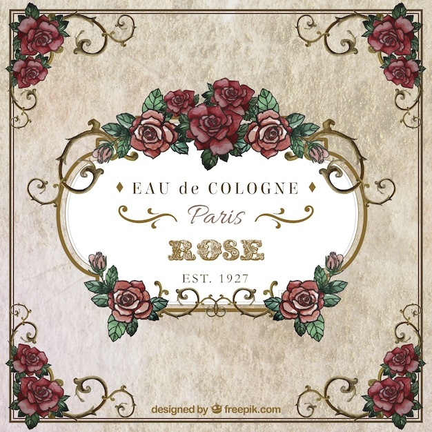 Watercolor Roses Frame Vector   Free Download