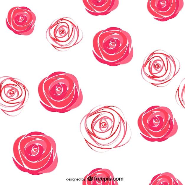 Watercolor roses pattern Premium Vector