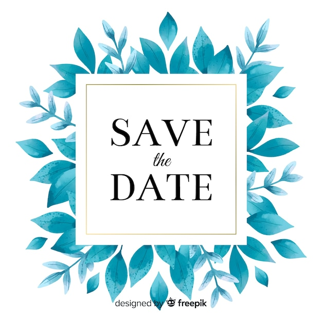 Watercolor save the date Free Vector