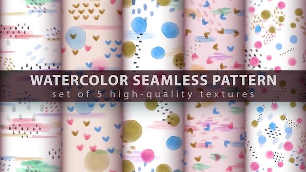 Watercolor seamless pattern Premium Vector