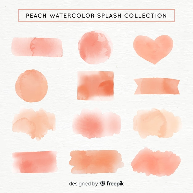 Watercolor shapes collection Free Vector