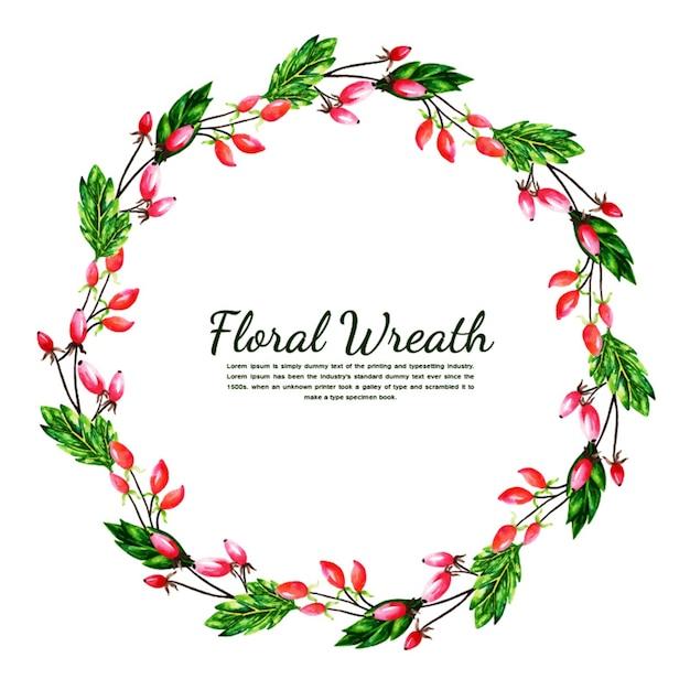 Watercolor Simple Floral Wreath