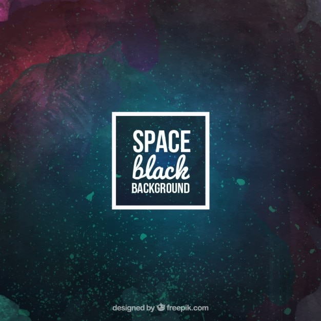 Watercolor space background Free Vector