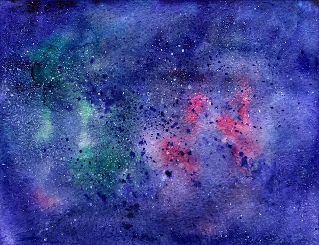 별 수채화 공간 텍스처입니다. 우주 배경. 벡터 추적. 프리미엄 벡터