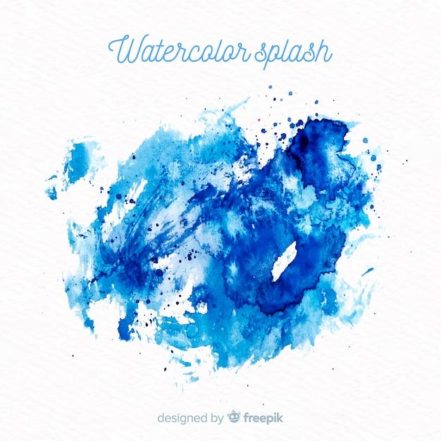 Watercolor splash background Free Vector