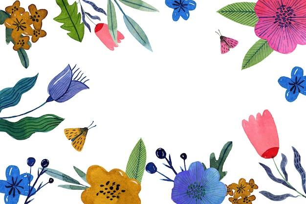 Concetto di sfondo primavera dell'acquerello Vettore gratuito