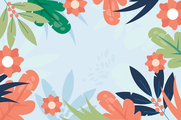 Watercolor spring background theme Free Vector