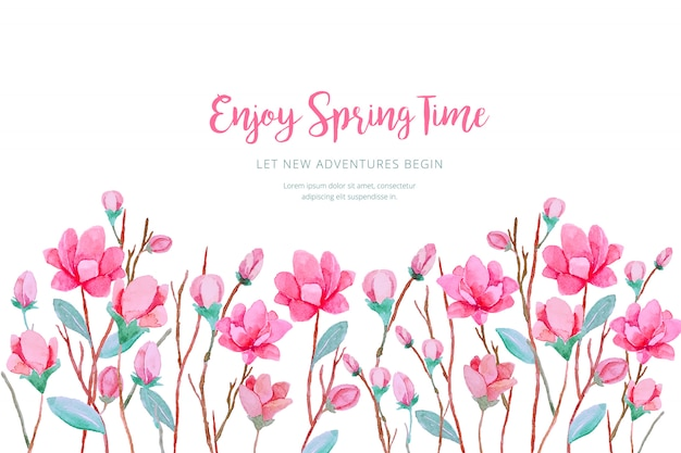 Watercolor spring background Free Vector
