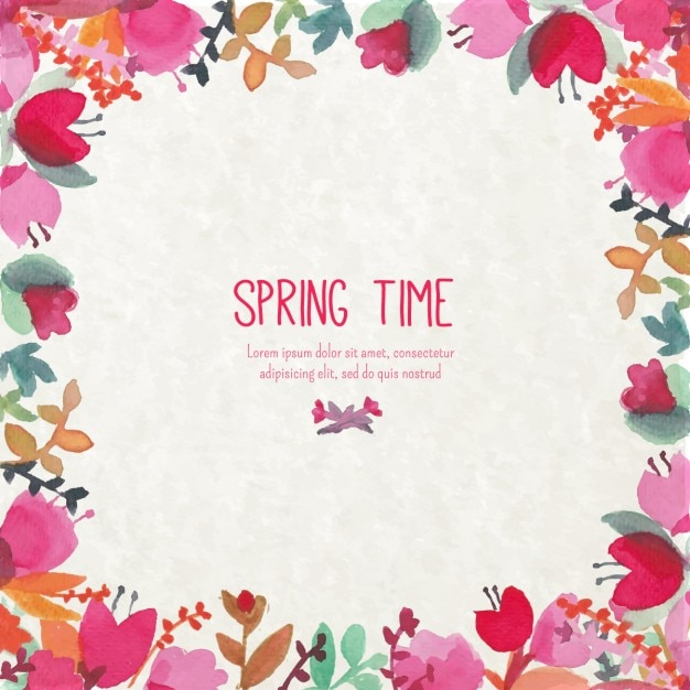 Spring flowers vectors free vector graphics everypixel watercolor spring flowers background mightylinksfo