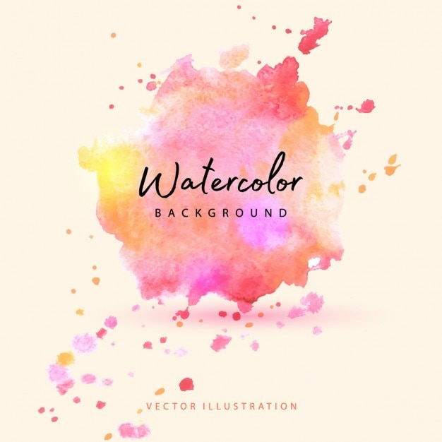Watercolor stain with warm tones Free Vector