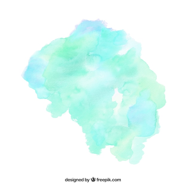 Watercolor stain Free Vector