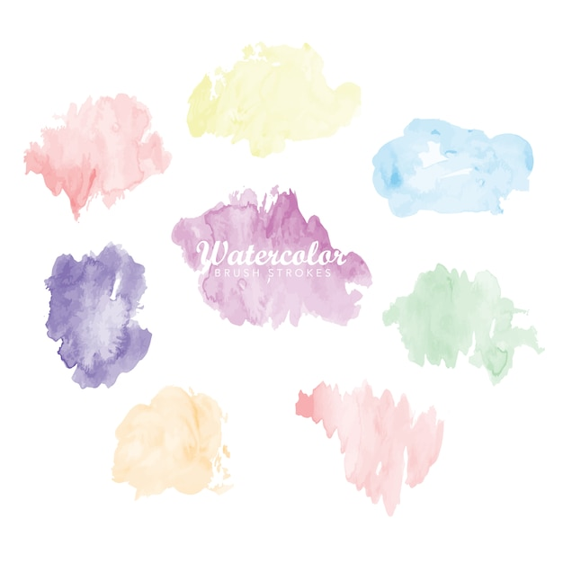 Watercolor stains collection Free Vector