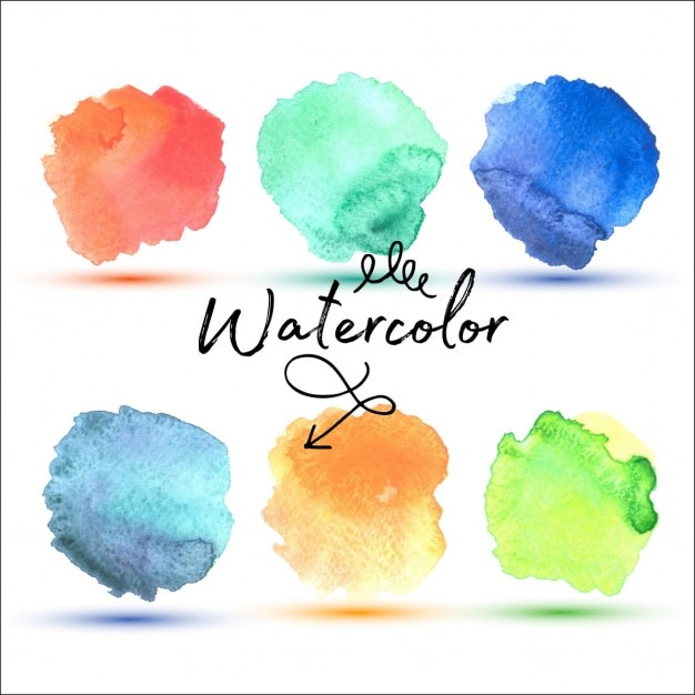 Watercolor stains Free Vector