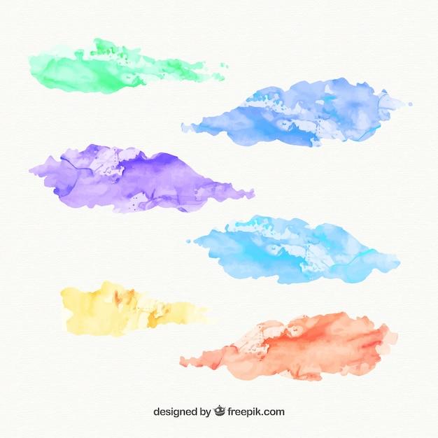 Watercolor stains Premium Vector