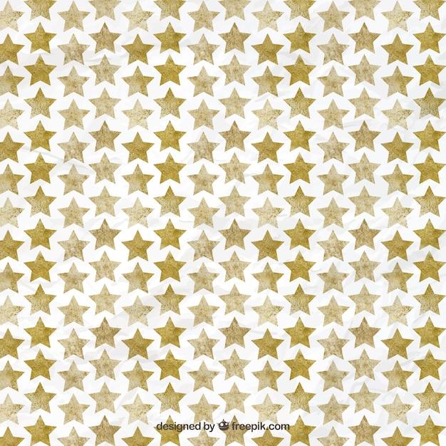 Watercolor star pattern Premium Vector